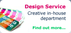 Design Service - Creative in-house department - Find out more...
